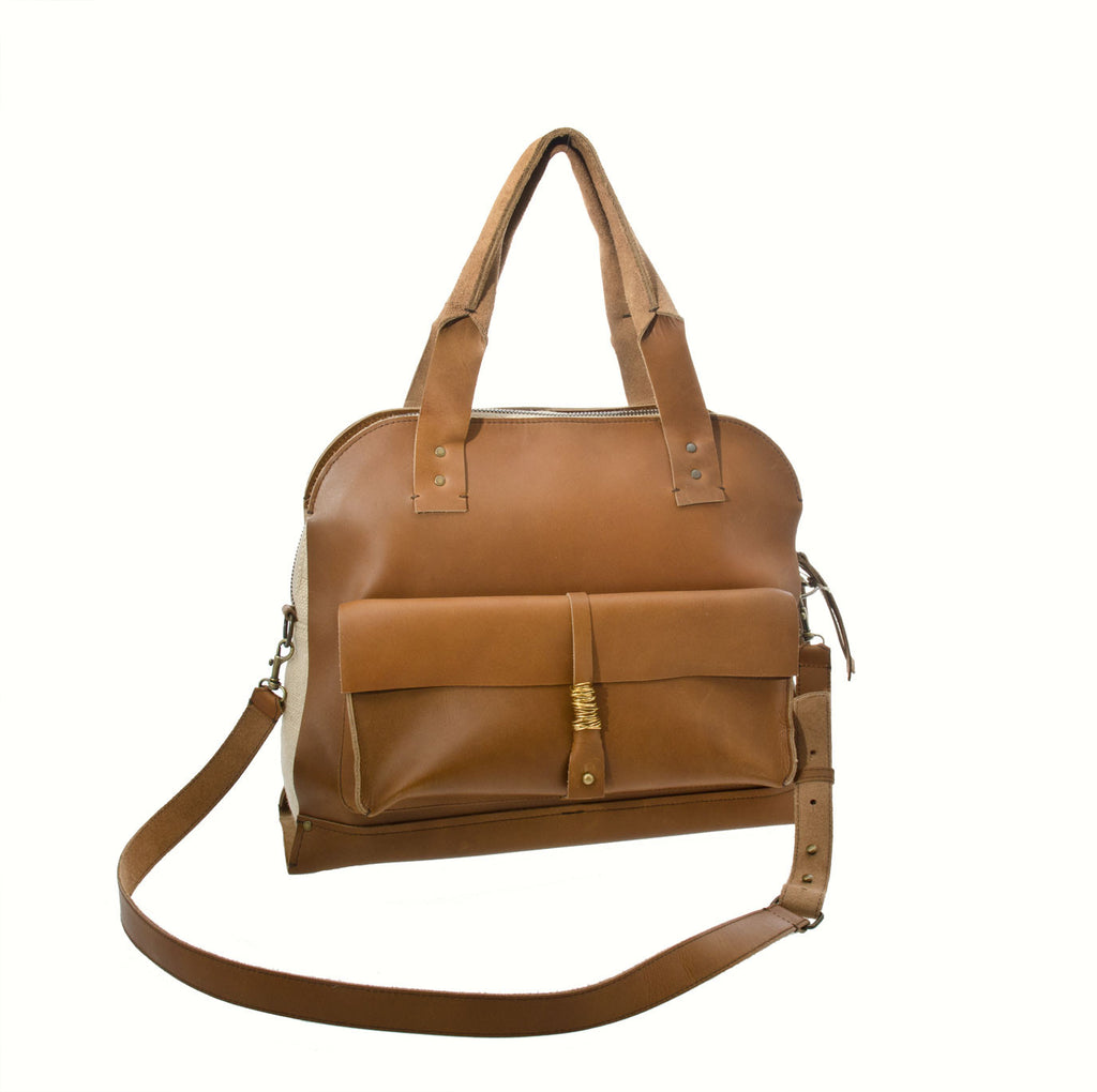 Jo Handbags No. 27 Satchel - Honey