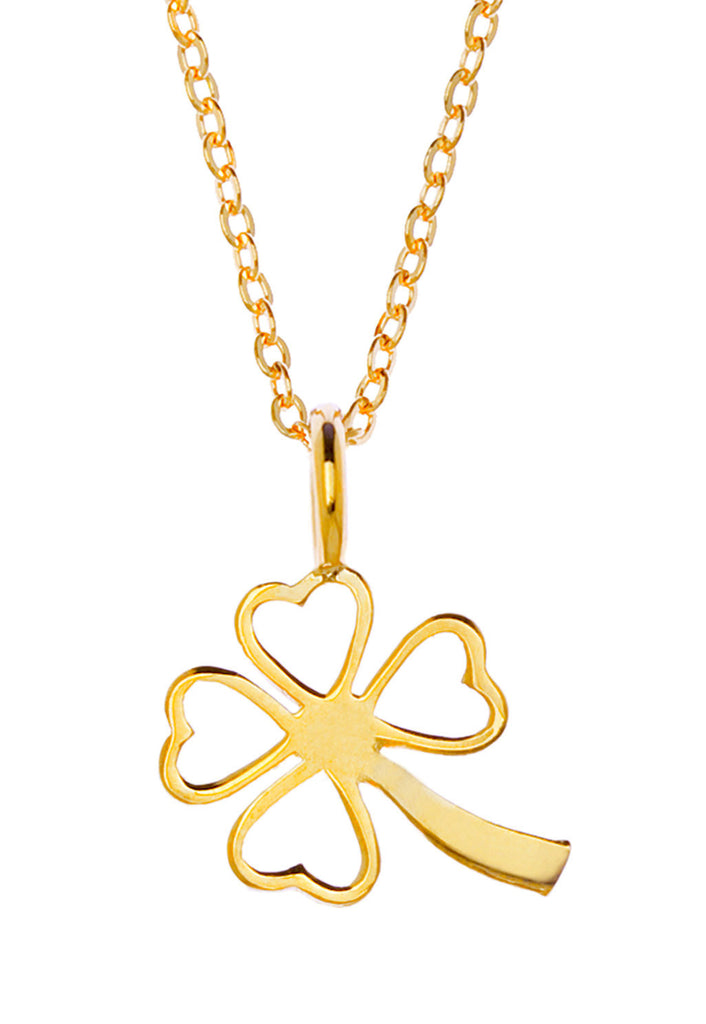 Samantha Faye Small Clover Pendant Necklace in Gold (various)