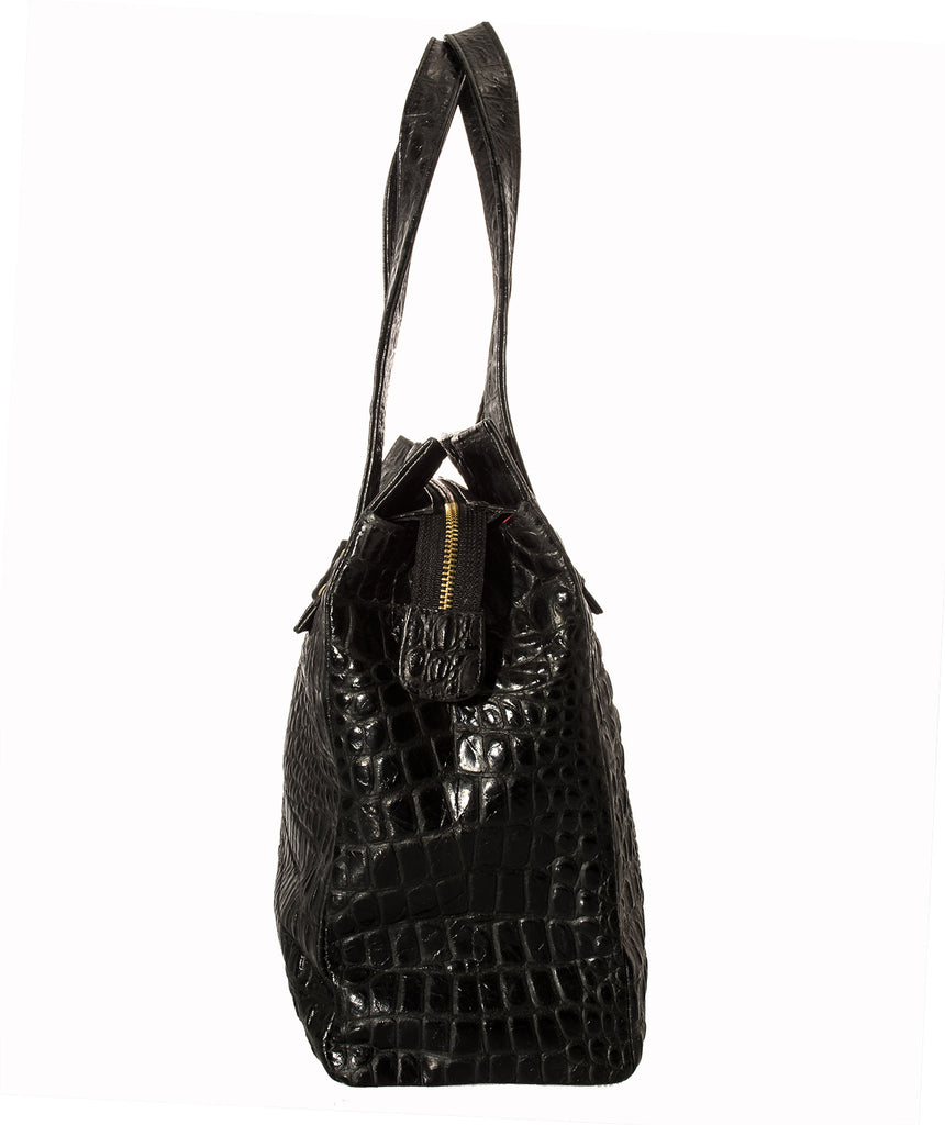 Marnie Bugs Vanessa Handbag - Faux Alligator Textured Leather