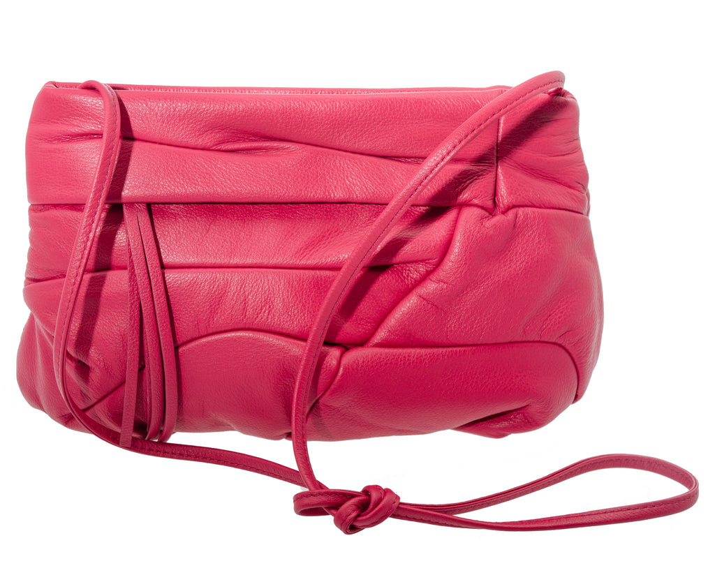 Bodhi Small Soft Leather Clutch in Country Rose