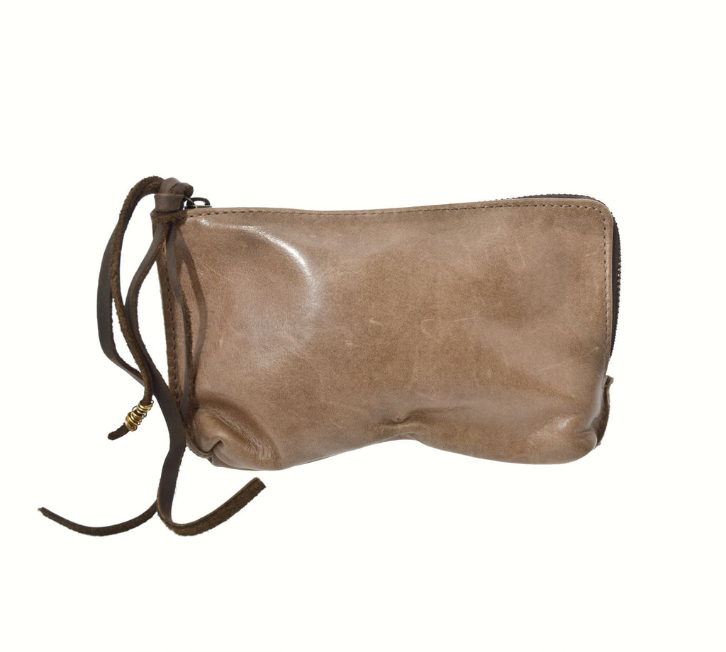 Jo Handbags Stella Zip Clutch in Taupe