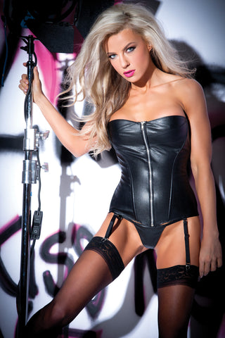 Blazing Peplum Top and G-String Set (5-2007)