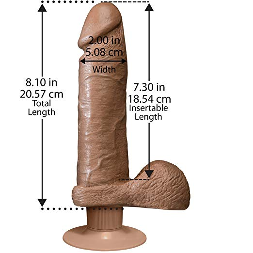 "Doc Johnson® 8"" Realistic Vibrating Suction Dong"