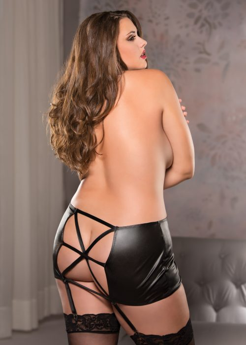Wetlook Garter Skirt (13-1102+)