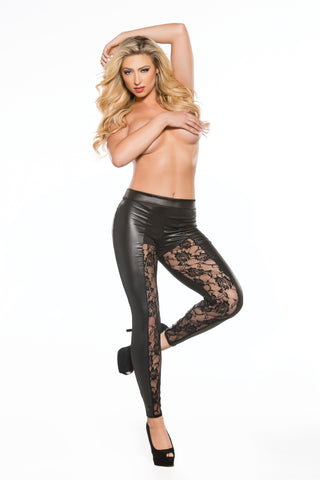 Lace & Wetlook Leggings (16-2602)
