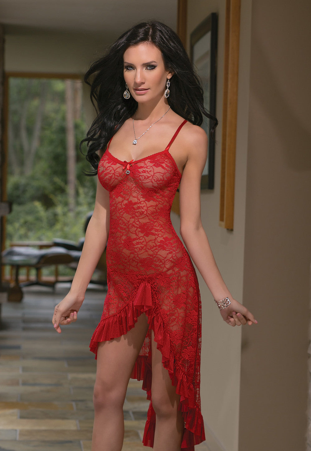 Lace Gown and G-String Set (1611)