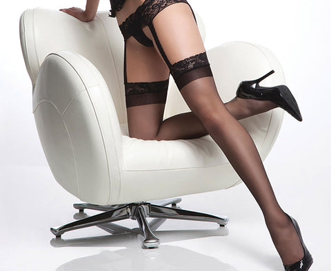 Sheer Lace Top Garter Hose (1752)