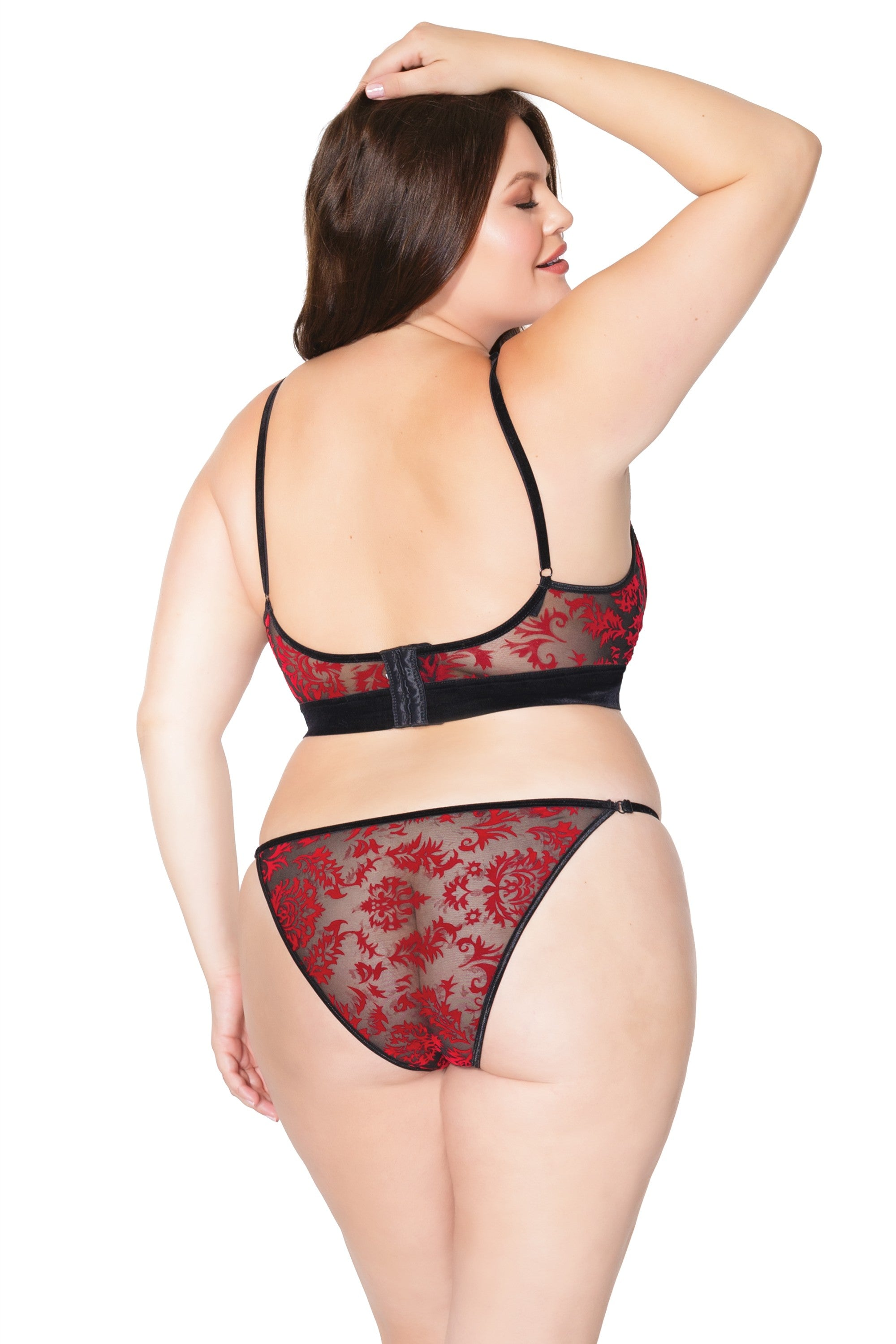 Black and Red Bra & Panty (20307)
