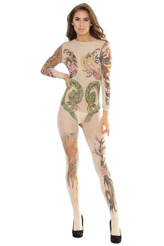 Crotchless Tattoo Body Stocking (2560)