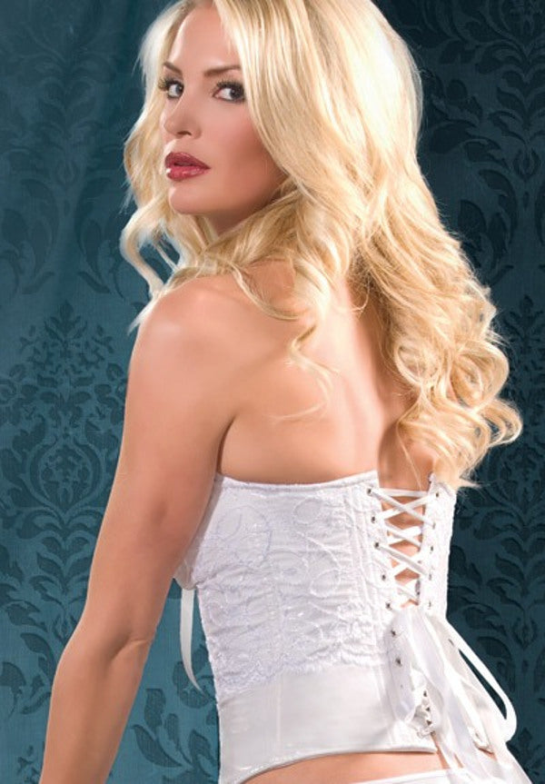 Lace and PVC Halter Corset (342)