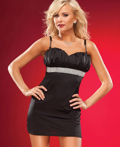 Lycra Party Dress with Rhinestone Sash (3672)