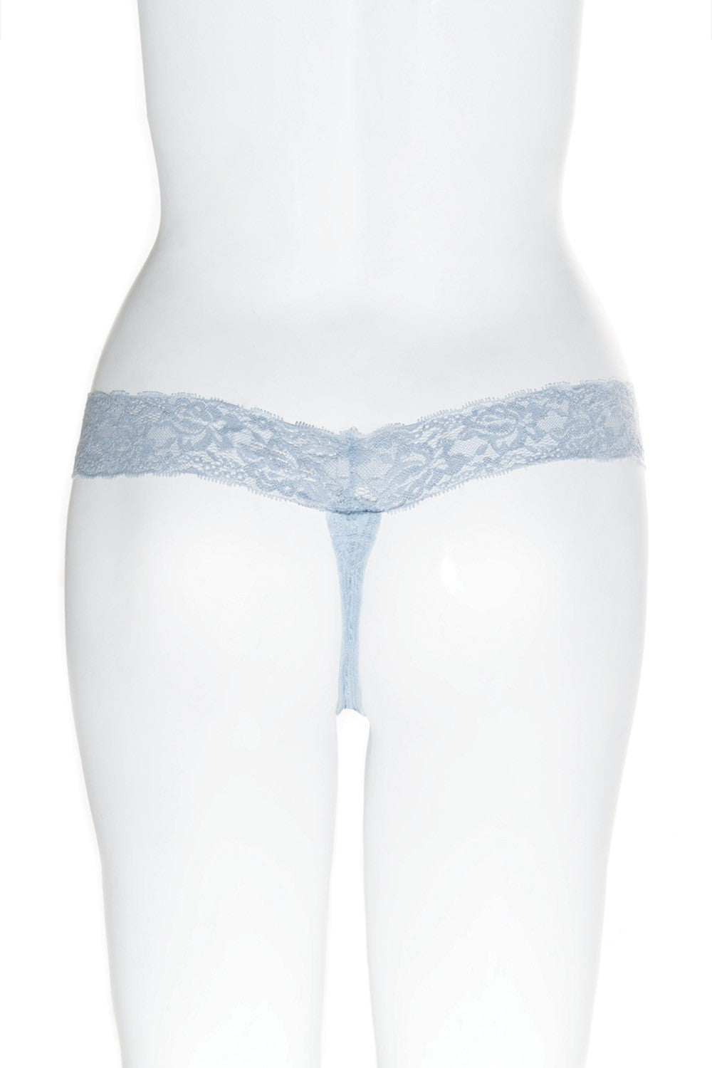 Powder Blue Lace Thong (4091)