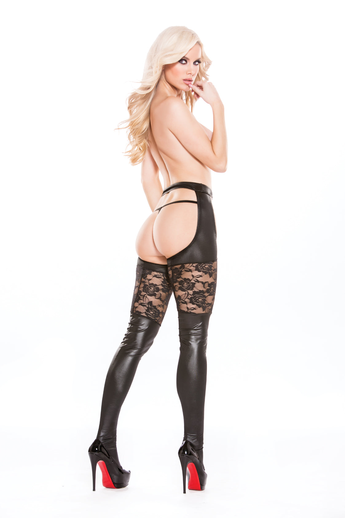 Lace & Wetlook Chap Tights (7-6602)