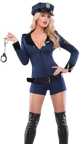 Faux Leather Zip-Up Bustier and G-String Set (5-4402)