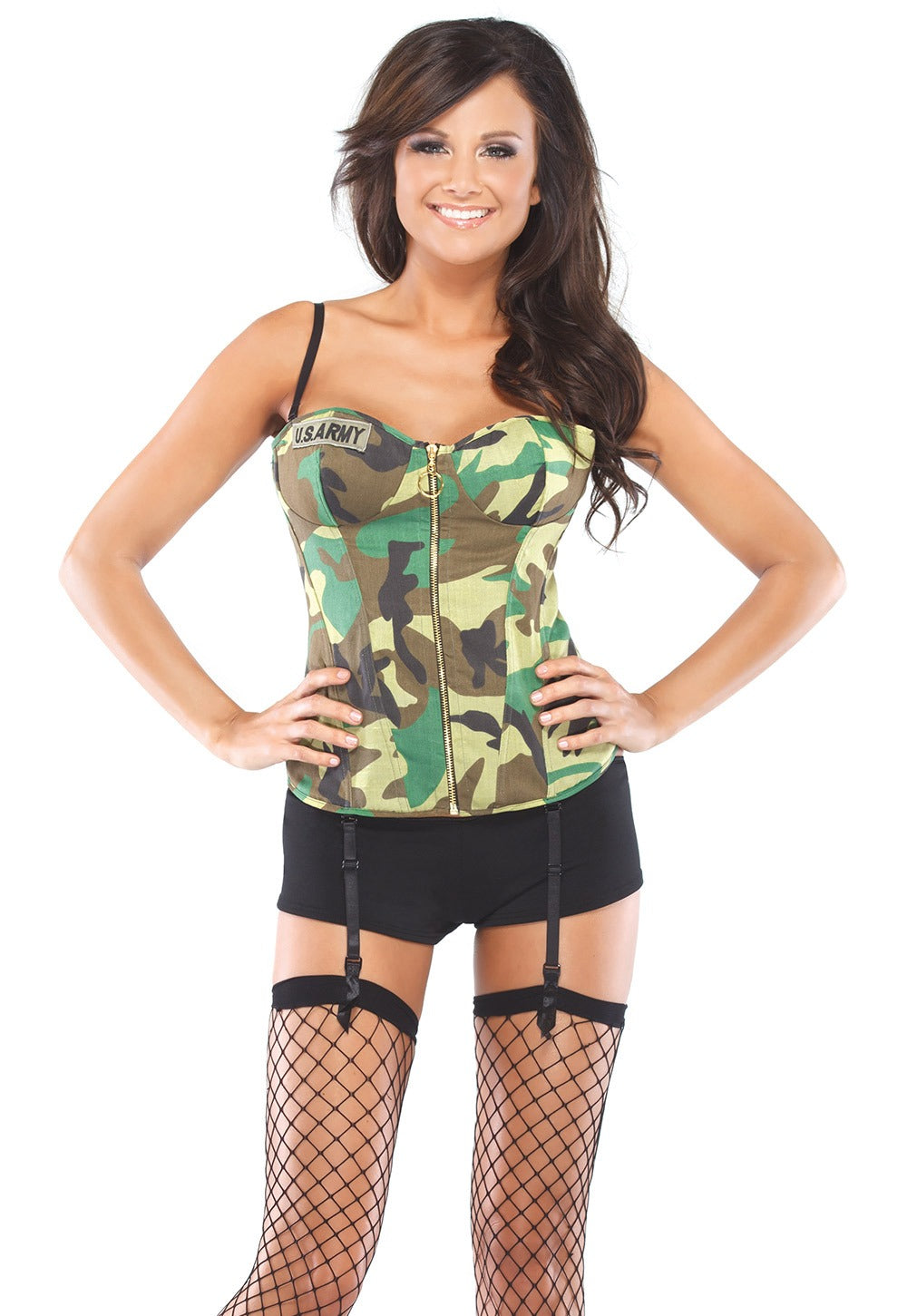 Camouflage Army Bustier (M2232)
