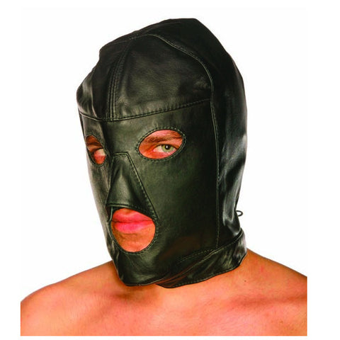 Leather Lace-Up Slave Mask