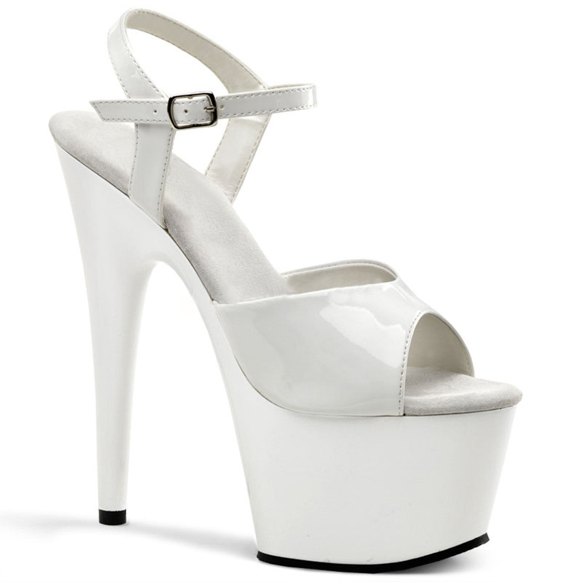 Patent Stiletto Platform Heel with Ankle Strap (Adore 709)