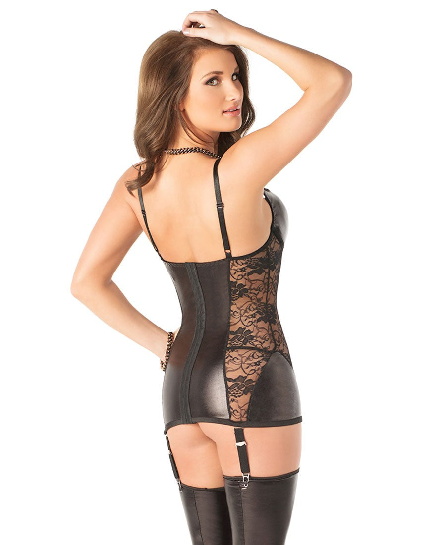 Wetlook and Lace Chemise (D9252)
