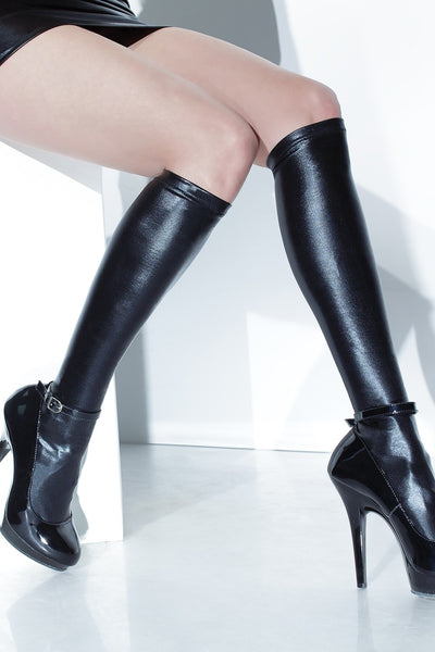Wetlook Knee-High Stockings (D1797)