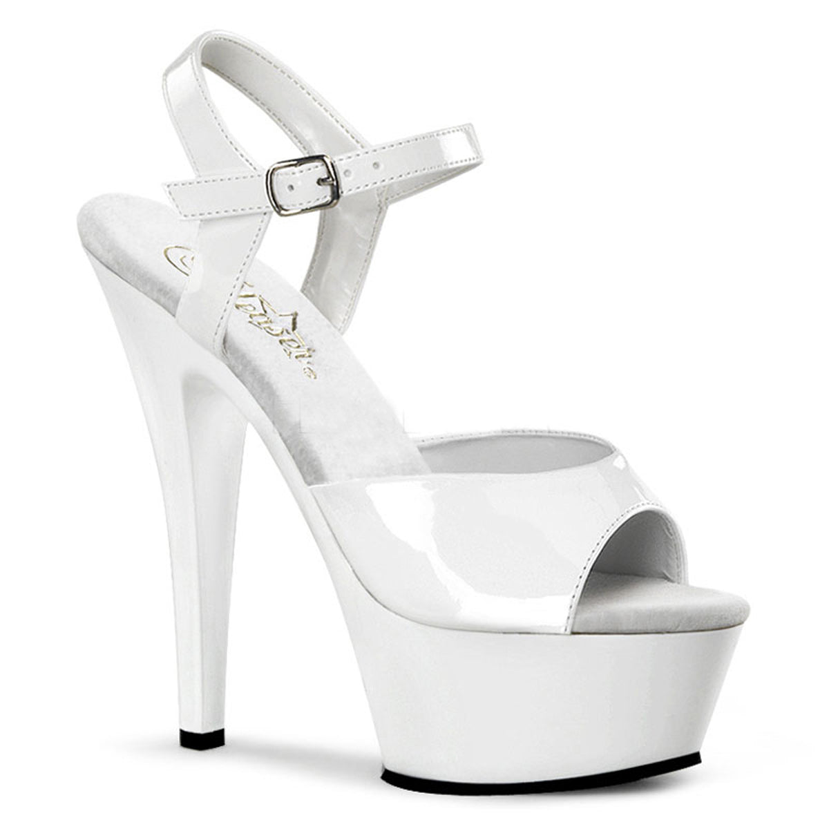 Patent Stiletto Heel with Ankle Strap (Kiss 209)
