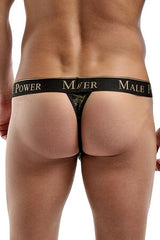 Black and Gold Thong (MP4352)