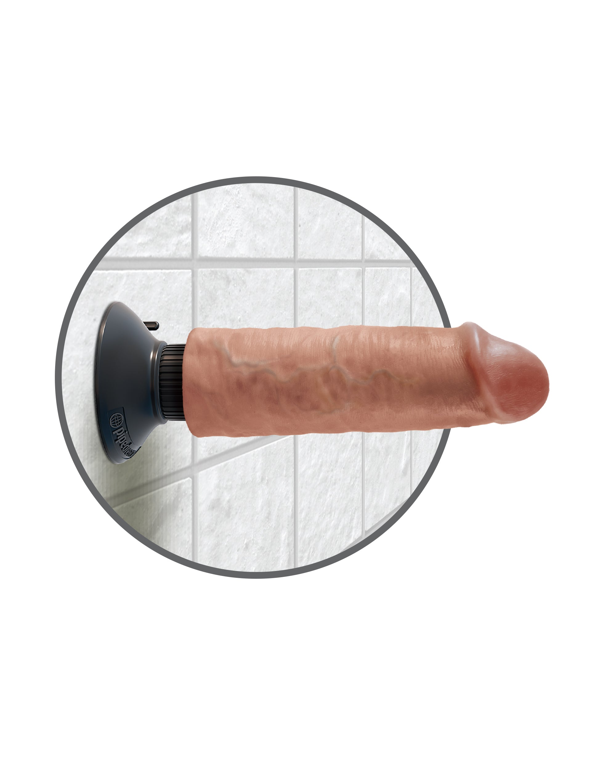 "King Cock 6"" Vibrating Suction Dong"
