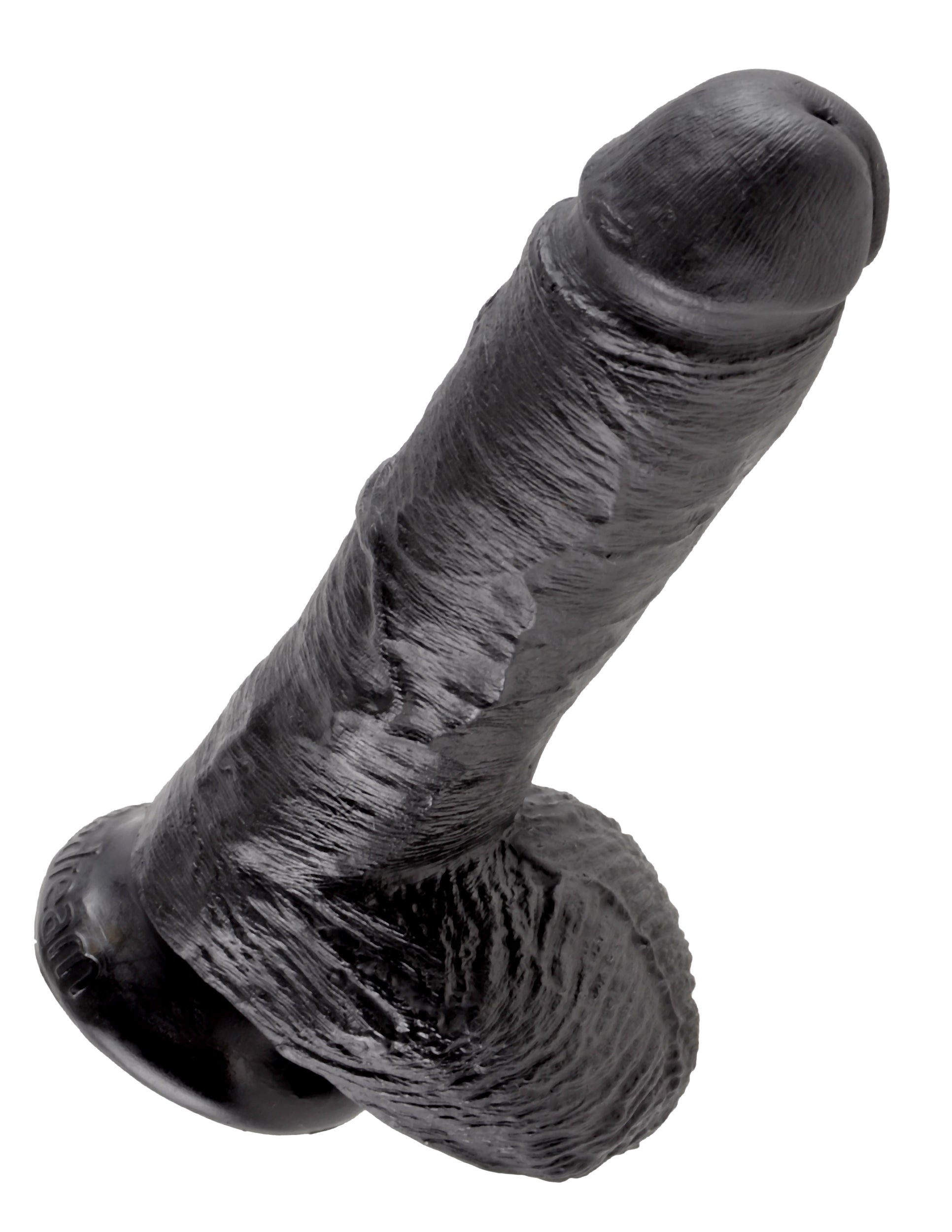 "King Cock 8"" Suction Cup Dong with Balls"