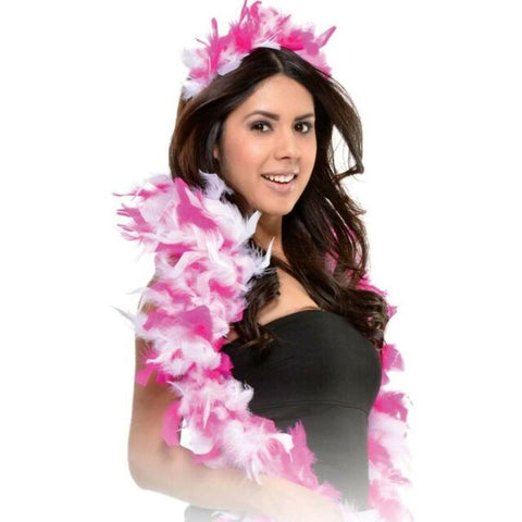 Feather Boa and Tiara Set