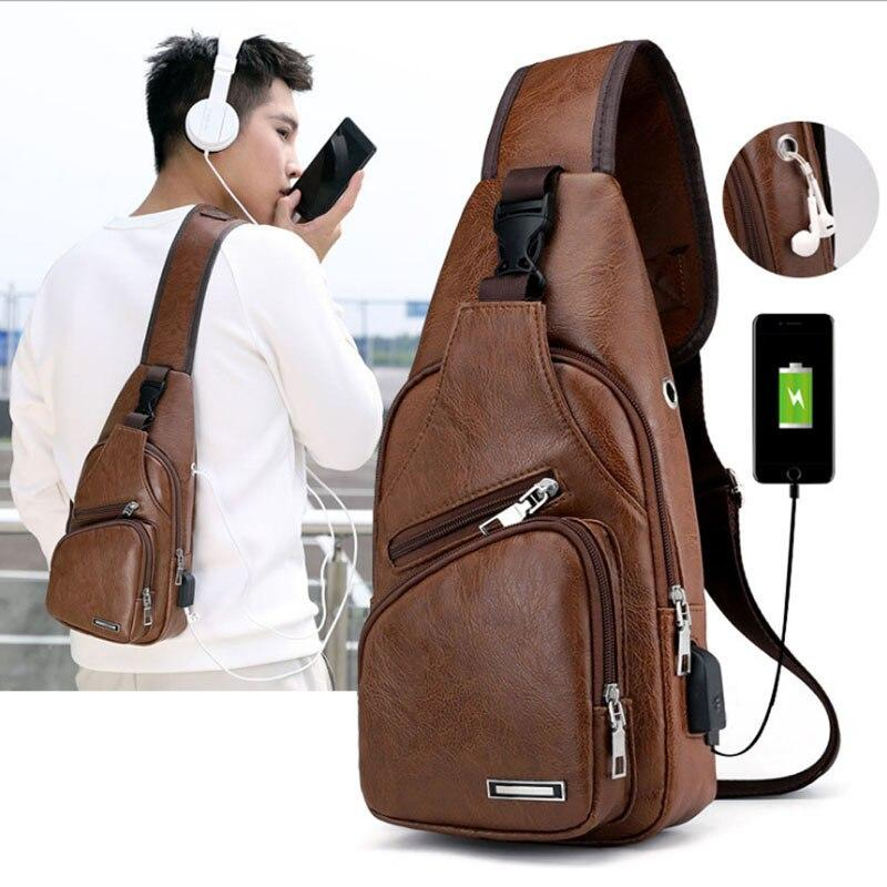 Luxury Cross Bag with USB Port