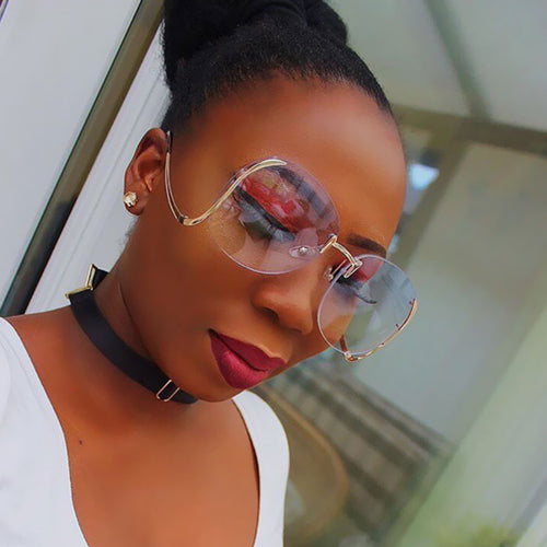 Women's Oversized Metal Frame Sunglasses