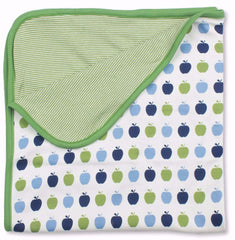 Green Apples Organic Cotton Blanket - Angelic Threads