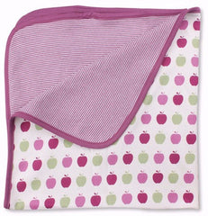 Raspberry Apples Organic Cotton Blanket - Angelic Threads