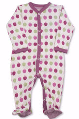 Raspberry Apple Organic Cotton Footie - Angelic Threads