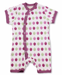 Apple Short Sleeve Organic Cotton Romper