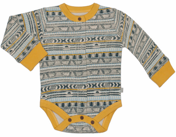 Finn + Emma Tribal Stripe Organic Cotton Bodysuit