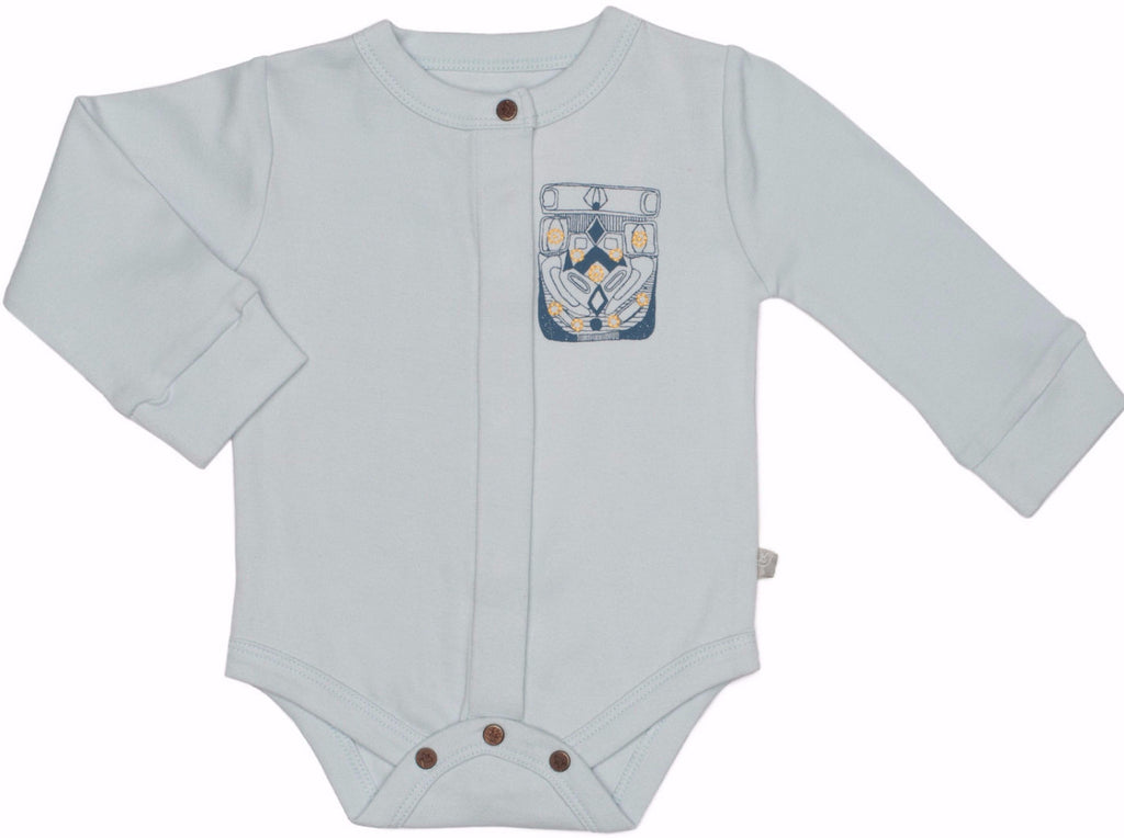 Icy Flow Blue Organic Bodysuit - Angelic Threads