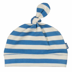 Stripy Blue Organic Cotton Hat - Angelic Threads