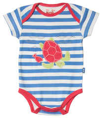 Stripy Turtle Organic Cotton Bodysuit - Angelic Threads