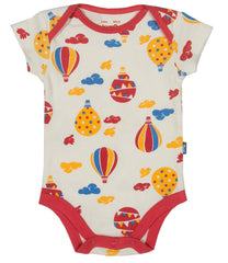 Red Balloons Organic Cotton Short Sleeve Bodysuit