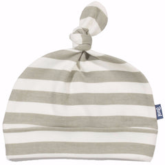 Stripy Grey Organic Cotton Hat