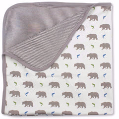 Bears Organic Cotton Blanket - Angelic Threads