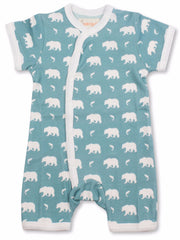 Bears Organic Cotton Short Sleeve Romper - Angelic Threads