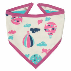 Stripy Balloons Organic Cotton Bandana Bibs - Angelic Threads