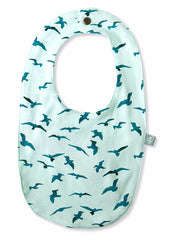 Bird Organic Cotton Reversible Bib - Angelic Threads