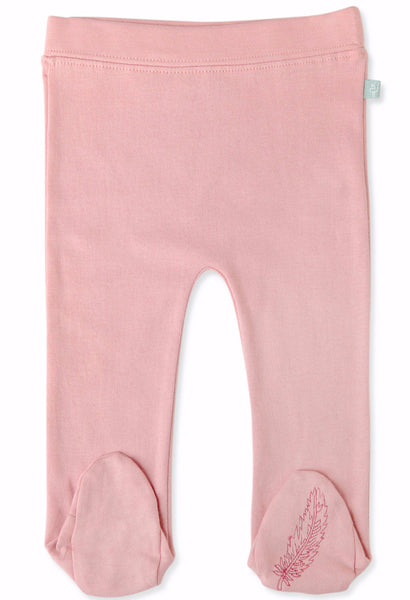 Bridal Rose Organic Cotton Footed Pants - Angelic Threads