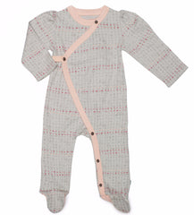 Scribble Print Organic Cotton Footie - Angelic Threads