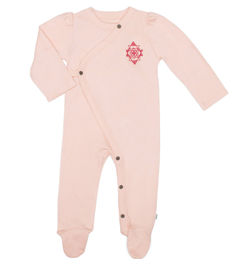 Tropical Peach Organic Cotton Footie