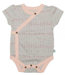 Short Sleeve Scribble Print Organic Cotton Bodysuit - Angelic Threads