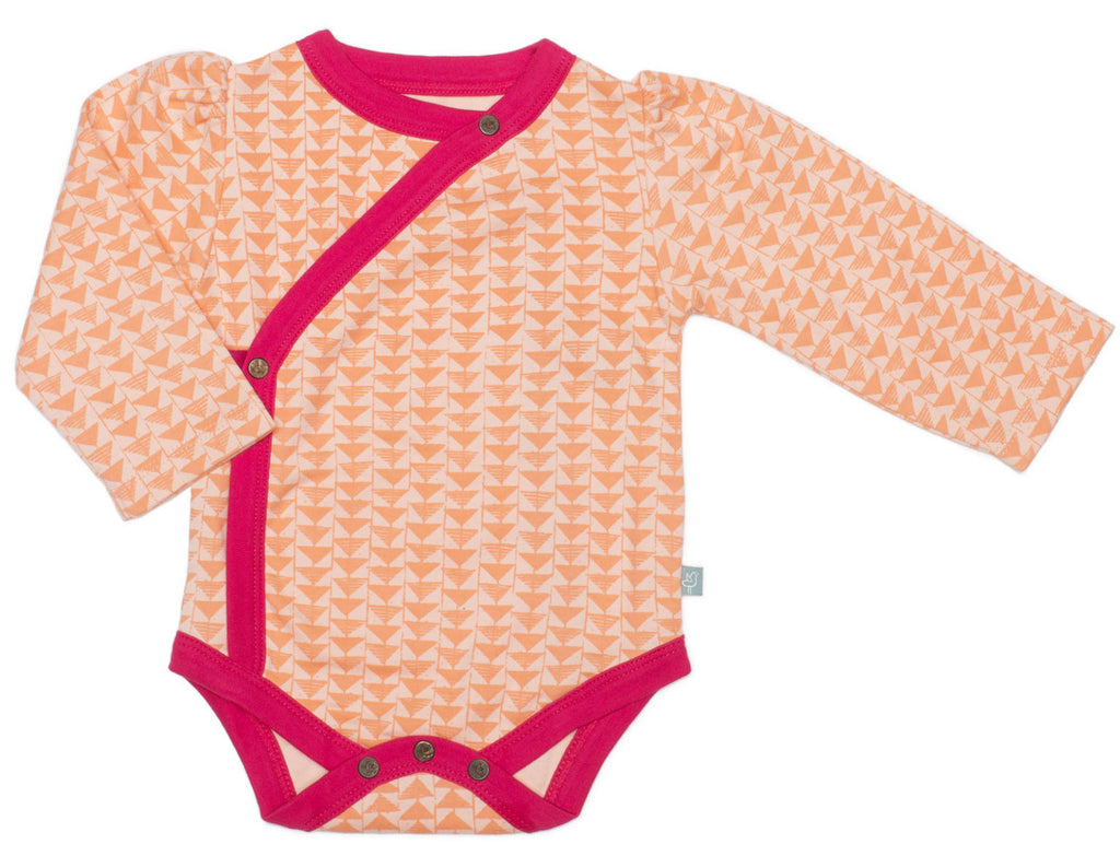 Finn + Emma Triangle Print Organic Cotton Bodysuit