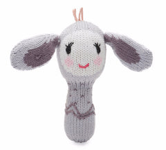 Belle The Bunny Organic Mini Rattle - Angelic Threads
